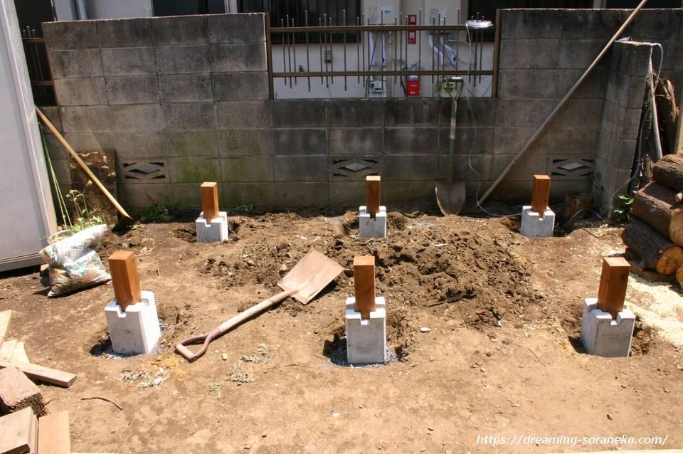 木製物置小屋の製作